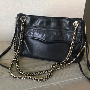 Rebecca Minkoff Black leather Swing bag
